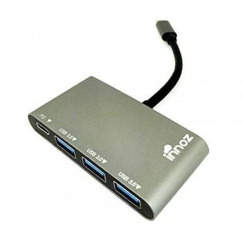 Innoz InnoZone C2 3-Port USB 3.0 with PD & USB 3.1 with Type-C Data Hub support Mac, Windows, Linus OS