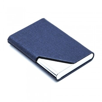 Leather Type Name Card Holder - Blue