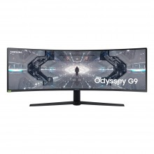 """Samsung 49"""" Dual QHD Resolution with 1000R curvature, QLED, HDR1000, 240Hz refresh rate, G-Sync compatibles and FreeSync Premium Pro Gaming Monitor"""