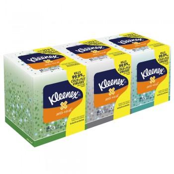 Kleenex® Boutique* Anti-Viral†† Facial Tissue, 3-pack Bundle
