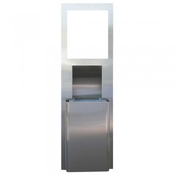 KIMBERLY-CLARK PROFESSIONAL™ MOD* STAINLESS STEEL RECESSED WALL UNIT WITH TRASH RECEPTACLE