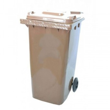 LEADER Mobile Garbage Bins BP 120 Brown