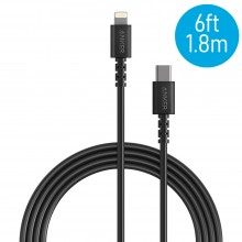 Anker A8613 PowerLine 6ft Select USB-C to Lightning Connector Cable - Black (1.8M)