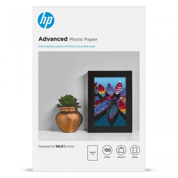 HP Advanced Glossy FCS Photo Paper-100 sht/10 x 15 cm