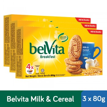 Belvita Breakfast Milk & Cereal Biscuits (80g x 3)