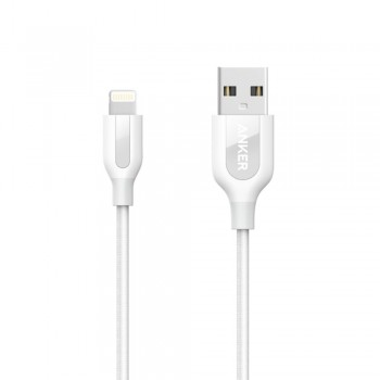 Anker PowerLine+ 3ft MFI Lightning Connector Cable White (0.9M)