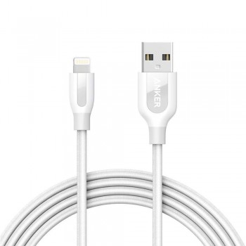 Anker PowerLine+ 6ft MFI Lightning Connector Cable White (1.8M)