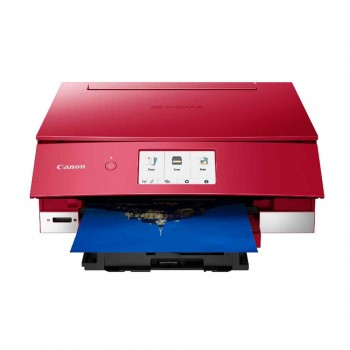 Canon Pixma TS8370 Wireless Photo All-In-One Inkjet Printer and Auto Duplex Printing - Red