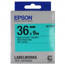 Epson LK-7GBP Label Tape 36mm Black on Green (Pastel)