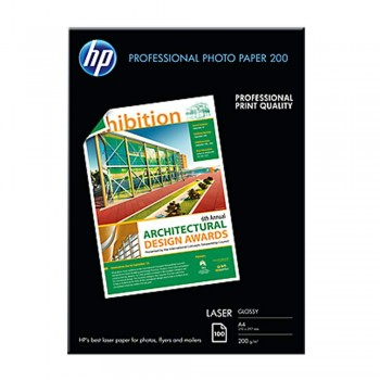 HP Professional Glossy LASER Photo Paper 200 - A4 / 100 Sheets / 200g (CG966A)