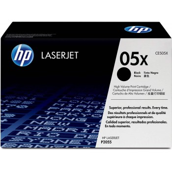 HP 05X 2-pack High Yield Original LaserJet Toner Cartridges - Black (CE505XD)