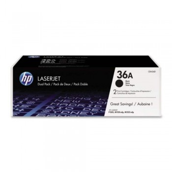 HP 36AD Black Dual Pack LaserJet Toner Cartridges (CB436AD)