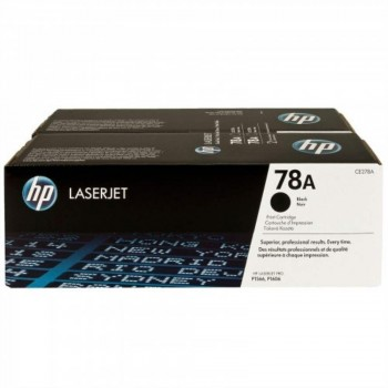 HP 78AD Black Dual Pack LaserJet Toner Cartridges (CE278AD)