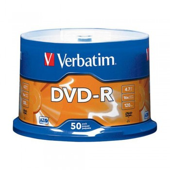 Verbatim DVD-R 4.7GB 16X with Branded Surface - 8 x 12 x 0cm, 50PC Spindle