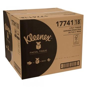Kleenex® Facial Tissues Cube 17741 - White, 2 ply, 1 x 75 sheets (75 sheets) [48 boxes /carton]