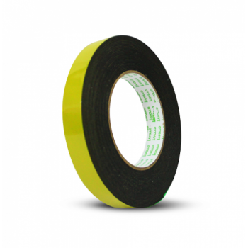 APOLLO Double Sided General Purpose Black Foam Tape - 12mm x 9m