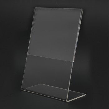 Acrylic Portrait A5 L-Shape Display Stand - 150mm (W) x 210mm (H)