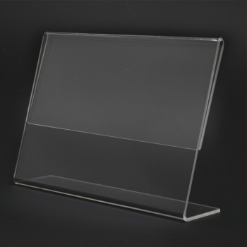Acrylic Landscape A5 L-Shape Display Stand - 210mm (W) x 150mm (H)
