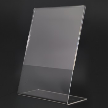 Acrylic Portrait A4 L-Shape Display Stand - 210mm (W) x 297mm (H)