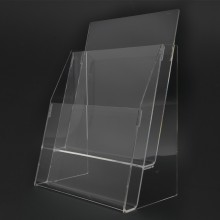 Acrylic A4 Brochure Holder Stand 2 Layer - 210mm (W) x 297mm (H)