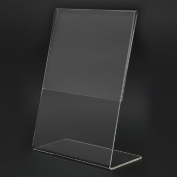 Acrylic Portrait A6 L-Shape Display Stand - 105mm (W) x 148mm (H)