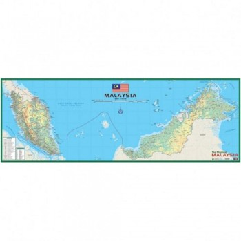 """Map Of Physical Malaysia M202 - (Laminated) H21"""" x W58"""""""