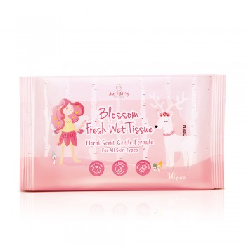 Aufairy Blossom Fresh Wet Tissue - Floral Scent 30s (2 in 1)