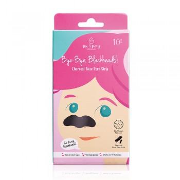Aufairy Bye-Bye, Blackheads! Charcoal Nose Pore Strip - 10pcs