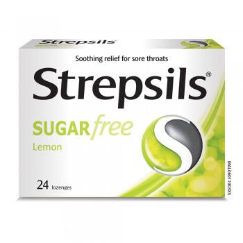Strepsils Sugar Free Lemon Lozenges 24s