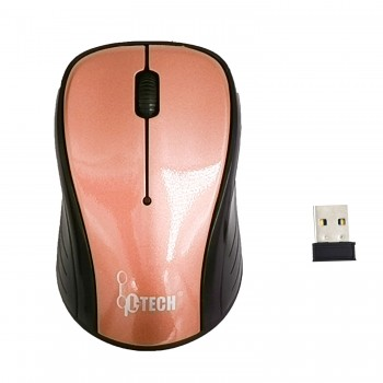 L-TECH Wireless Mouse Model 201 - PURPLE - 2.4GHz Wireless, Operating Distance Up To 10m, 6-Key Optical Mouse 6D, 1600 DPI, Compact Ergonomic Design - WM-201P